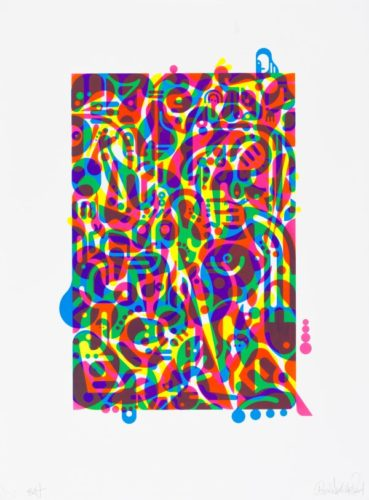 Untitled (fluorescent Women Parts) 3 by Ryan McGinness