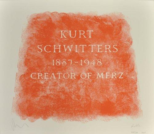 A History Of Type Design / Kurt Schwitters, 1887-1 by Scott Myles Gavin Morrison