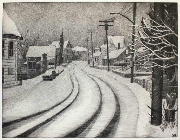 Evening Snow (east Gloucester) by Sean Hurley