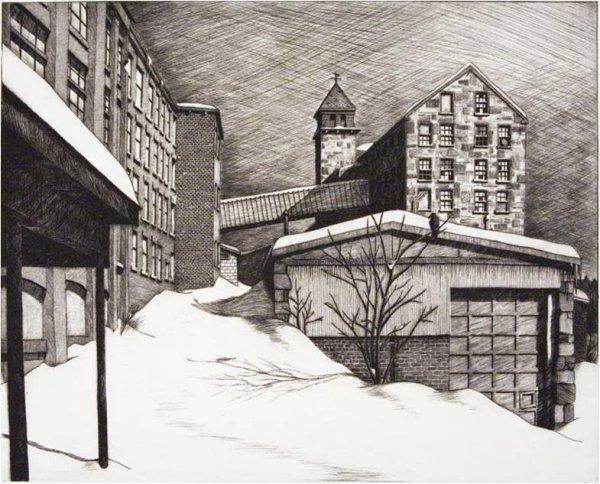 Snowdrift At Essex Mill by Sean Hurley