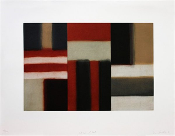 Cut Ground Red by Sean Scully at