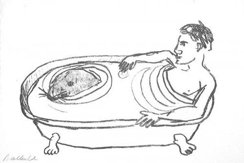 Mann In Der Badewanne by Stephan Balkenhol