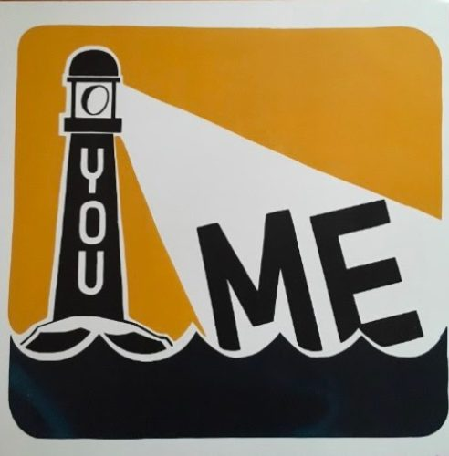 You / Me (brown) by Steve Powers (ESPO)