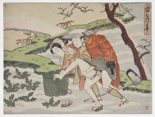 A Couple Making Love In The Snow by Suzuki Harunobu