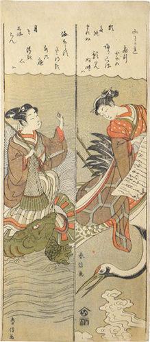 Parodies Of Hichobo And Urashima Taro by Suzuki Harunobu