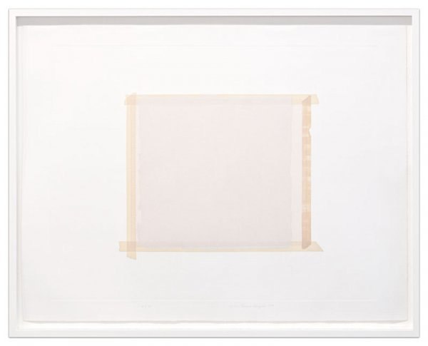 Paper Under Tape, Paint Over Paper by Sylvia Plimack Mangold