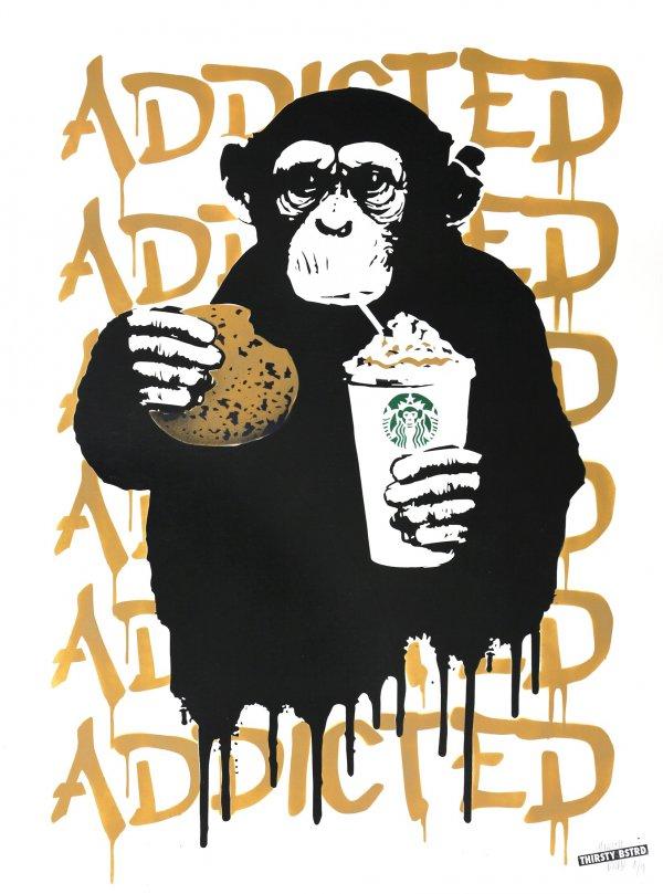 Fast Food Monkey – Starbucks Beige by THIRSTY BSTRD