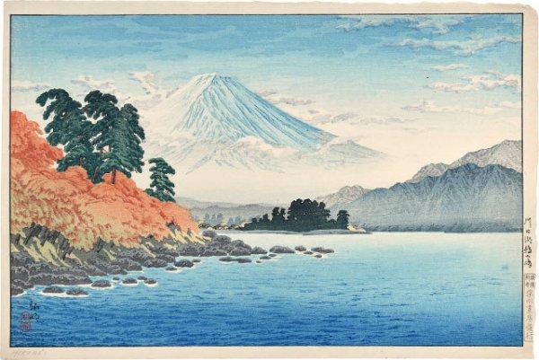 Cormorant Island, Lake Kawaguchi by Takahashi Hiroaki (Shotei)