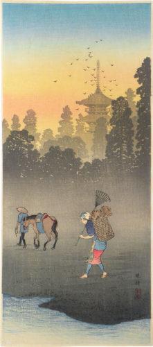 Evening Bell In The Village by Takahashi Hiroaki (Shotei)