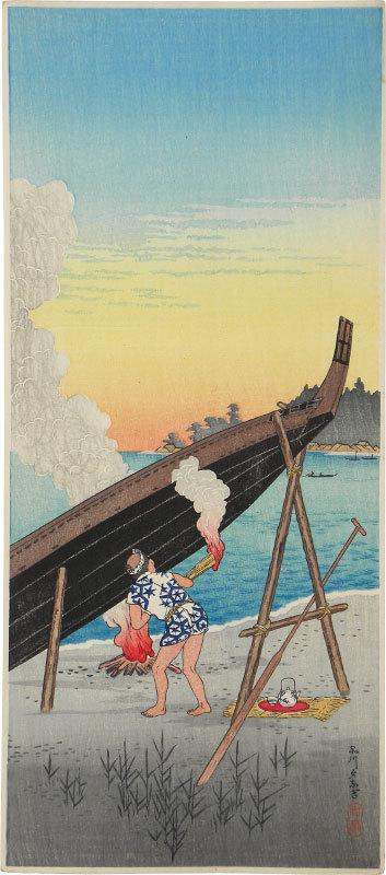 Evening Calm At Shinagawa by Takahashi Hiroaki (Shotei)