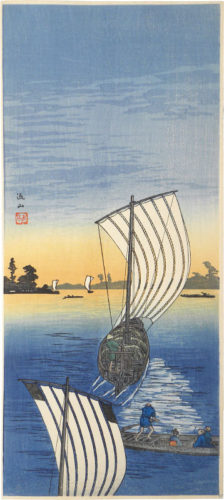 Evening Sun At Nagareyama by Takahashi Hiroaki (Shotei)