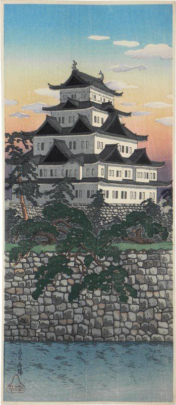 Nagoya Castle (purple On Horizon) by Takahashi Hiroaki (Shotei)