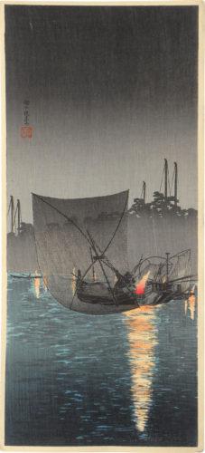 Night [fishing] Net At Tsukuda by Takahashi Hiroaki (Shotei)