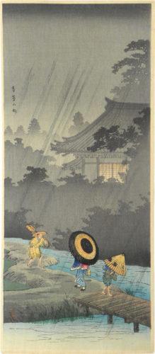 Rain At Terashima by Takahashi Hiroaki (Shotei)