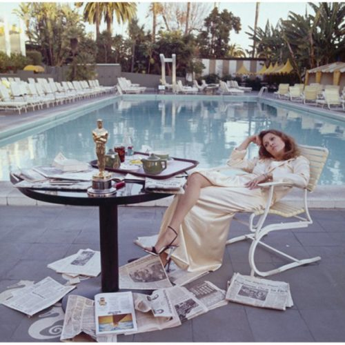 Faye Dunaway, Beverly Hills Hotel, 1977 by Terry O'Neill at