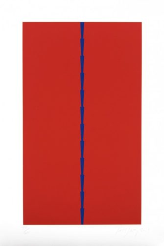 Stacks Blue by Tess Jaray RA at Royal Academy of Arts
