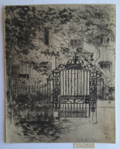 The Gate, Chelsea by Theodore Roussel at Harris Schrank Fine Prints (IFPDA)