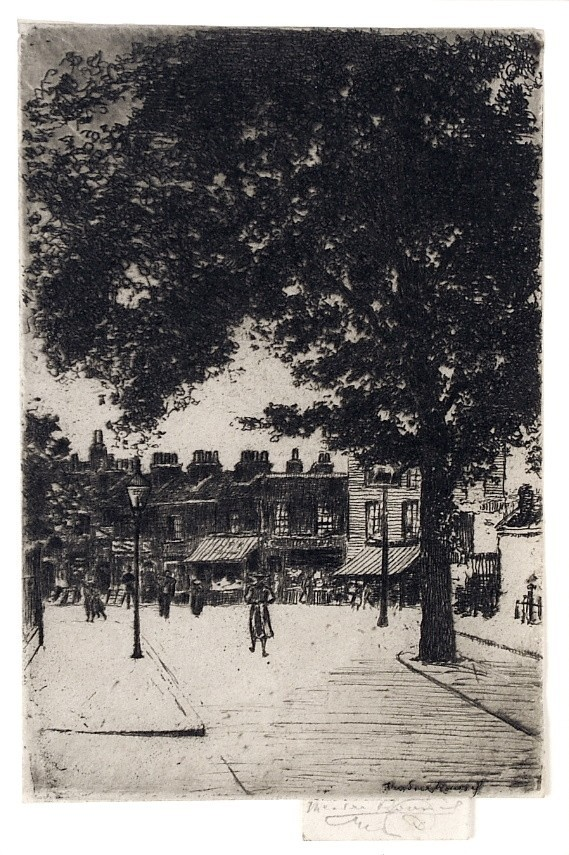 The Sign Of The White Horse, Parson's Green by Theodore Roussel