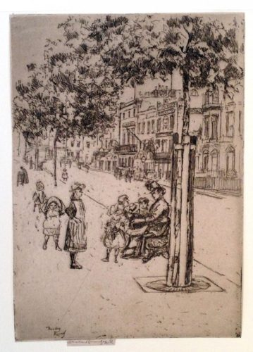 Chelsea Children, Chelsea Embankment by Theodore Roussel at Harris Schrank Fine Prints (IFPDA)