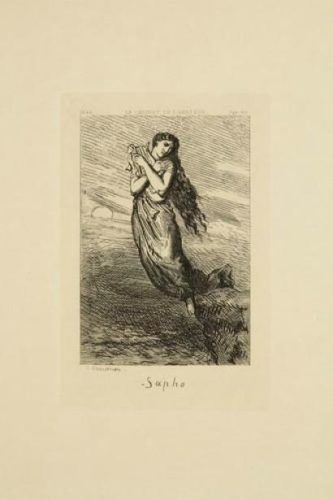 Sapho by Théodore Chassériau at