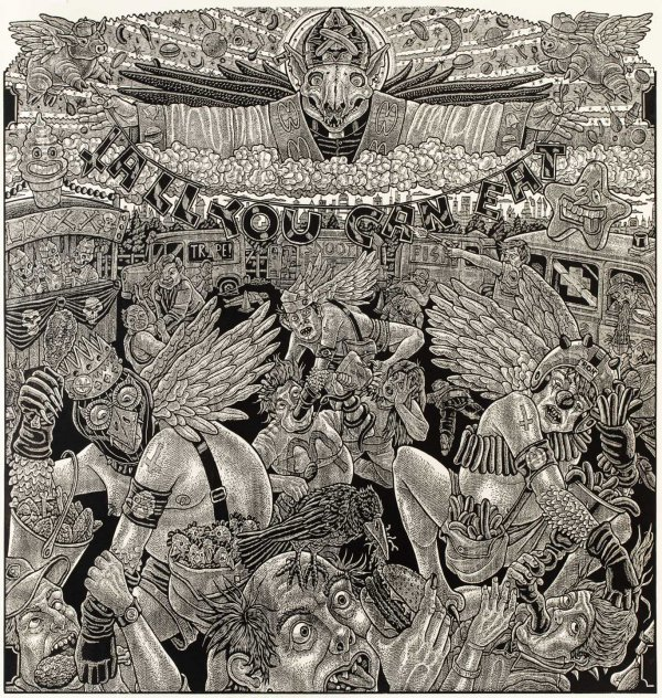 """""""the Feast Of Lord Aporkalyptus"""" by Tom Huck"""