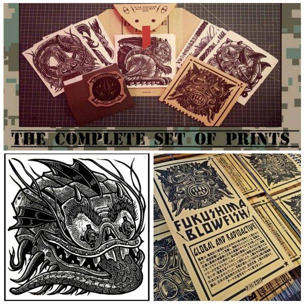 War Wigglerz: The Complete Set Of Prints by Tom Huck