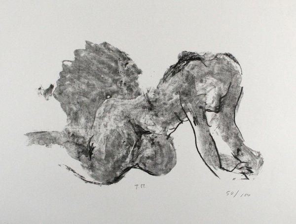 Liegender Akt by Toni Stadler
