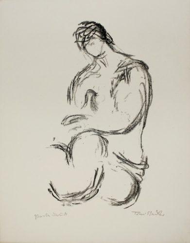 Weiblicher Akt / Female Nude by Toni Stadler