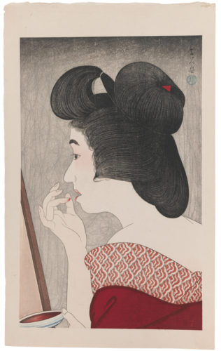 Lip Rouge (kuchibeni) by Torii Kotondo at Scholten Japanese Art
