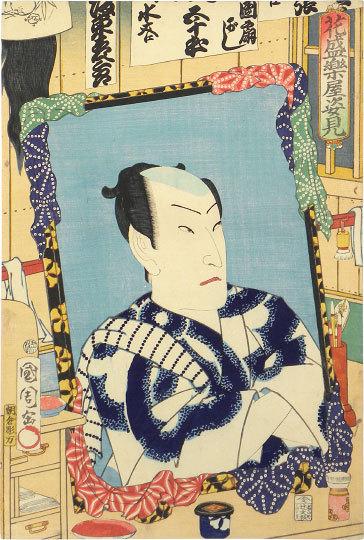 The Mirror Of Backstage In Full Bloom: Bando Hikosaburo V by Toyohara Kunichika