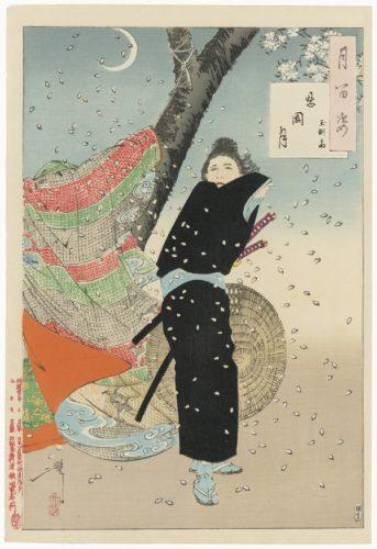 Shinobugaoka Moon: Gyokuensai by Tsukioka Yoshitoshi