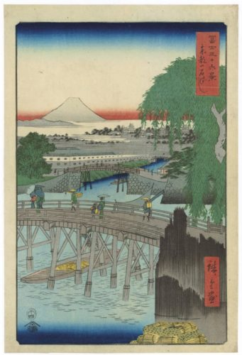 Ichikoku Bridge In The Eastern Capital by Utagawa Hiroshige at Stanza del Borgo (IFPDA)