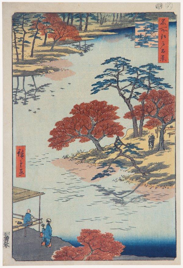 Inside Akiba Shrine, Ukeji by Utagawa Hiroshige