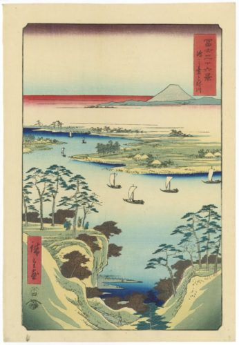 The Tone River At Kônodai by Utagawa Hiroshige at Stanza del Borgo (IFPDA)