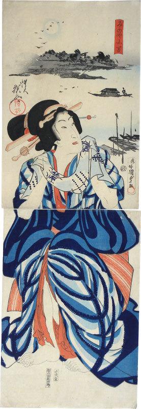 Koman Of The Minoya by Utagawa Kunisada II