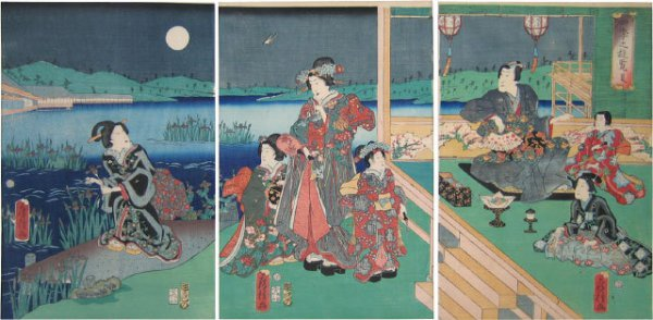 Excursions Of The Four Seasons: Summer by Utagawa Fusatane at