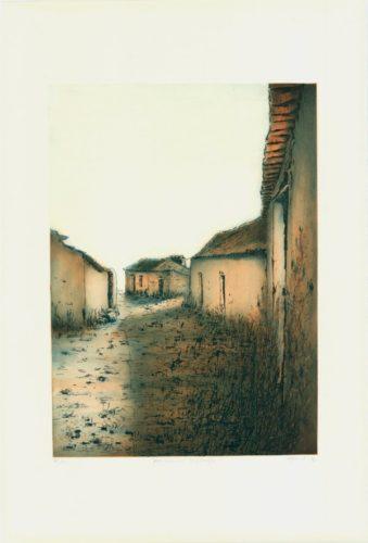 Portugiesische Dorfstrasse by Ute Gortner