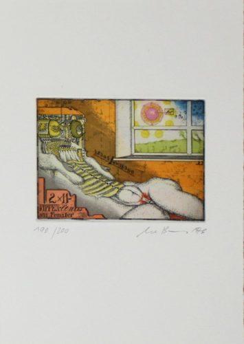 Rippenvenus Am Fenster by Uwe Bremer