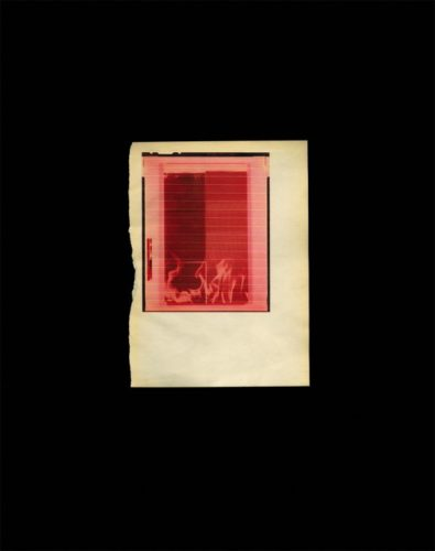 Untitled Red Fire For Smc by Wade Guyton