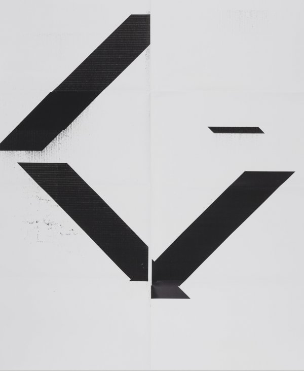 X Poster (untitled, 2007, Wg1208) by Wade Guyton