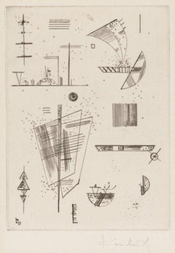 Erste Kaltnadel FÜr Die Editions Cahier's D' Art by Wassily Kandinsky at