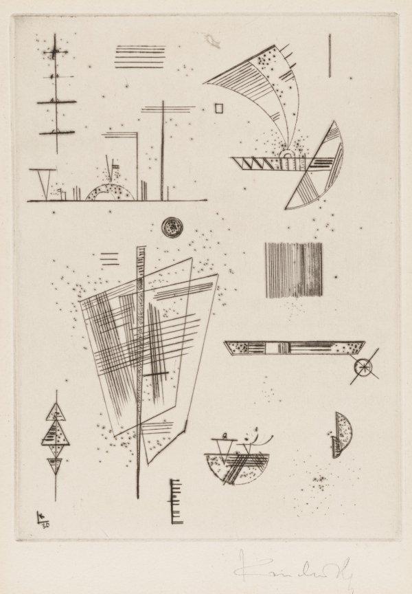 Erste Kaltnadel FÜr Die Editions Cahier's D' Art by Wassily Kandinsky