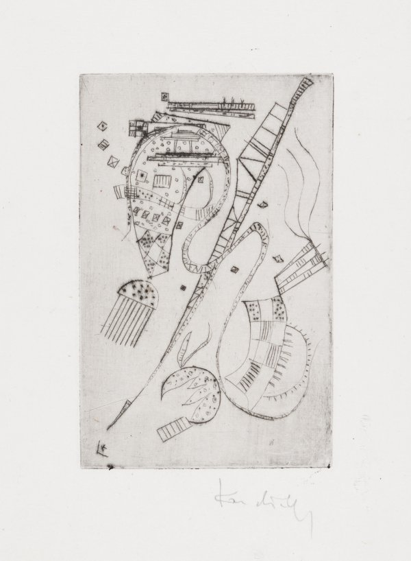 """Etching For Stephen Spender """"fraternity"""" by Wassily Kandinsky"""