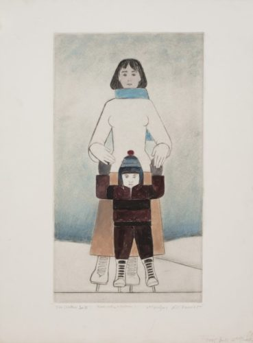 The Skaters by Will Barnet at