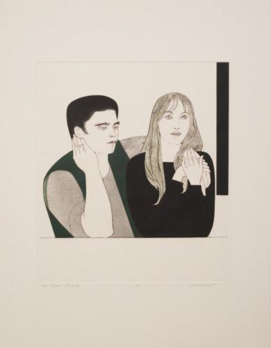 The Young Couple by Will Barnet at