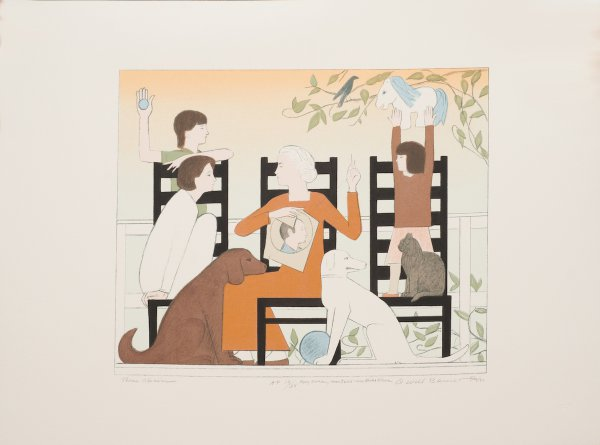 Three Chairs by Will Barnet at