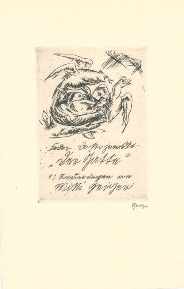 """Title-page Of """"der Gatte"""", By Dostoievski by Willi Geiger"""