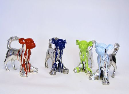 Cloned Silver Plated Chihuahua by William Sweetlove