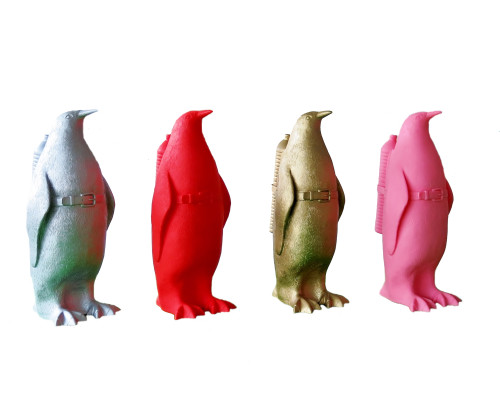 Small Cloned Penguin With Water Bottle by William Sweetlove