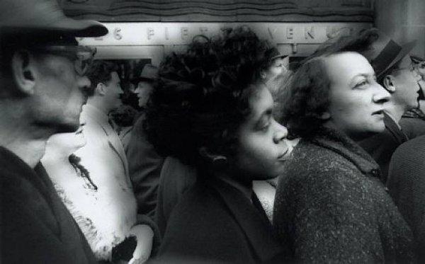 Black Women, Profile In Crowd by William Klein